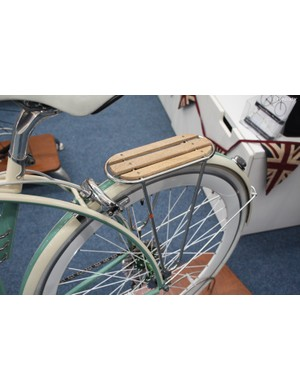 Hardwood slats at the rear rack complement the rest of the design