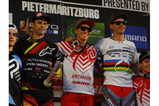 Aaron Gwin ended his run of bad luck with a return to dominance at Pietermaritzburg