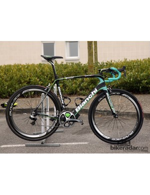 Sep Vanmarcke (Belkin) rode this Bianchi Infinito CV to a fourth-place finish at Paris-Roubaix