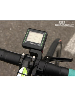 The Pioneer computer head can display an incredible amount of information - though we doubt Sep Vanmarcke (Belkin) had much opportunity to look at it during the race