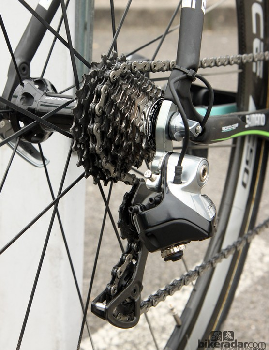 Sep Vanmarcke (Belkin) went with a very tight 11-23T cassette for the flat parcours of Paris-Roubaix