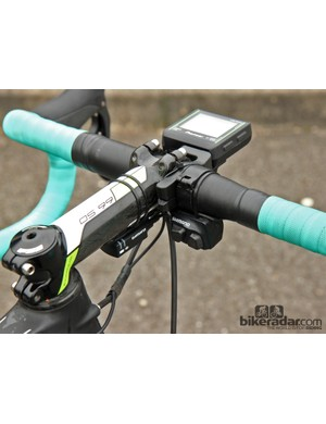 The cockpits of Shimano Dura-Ace Di2-equipped team bikes are becoming an increasingly busy place these days