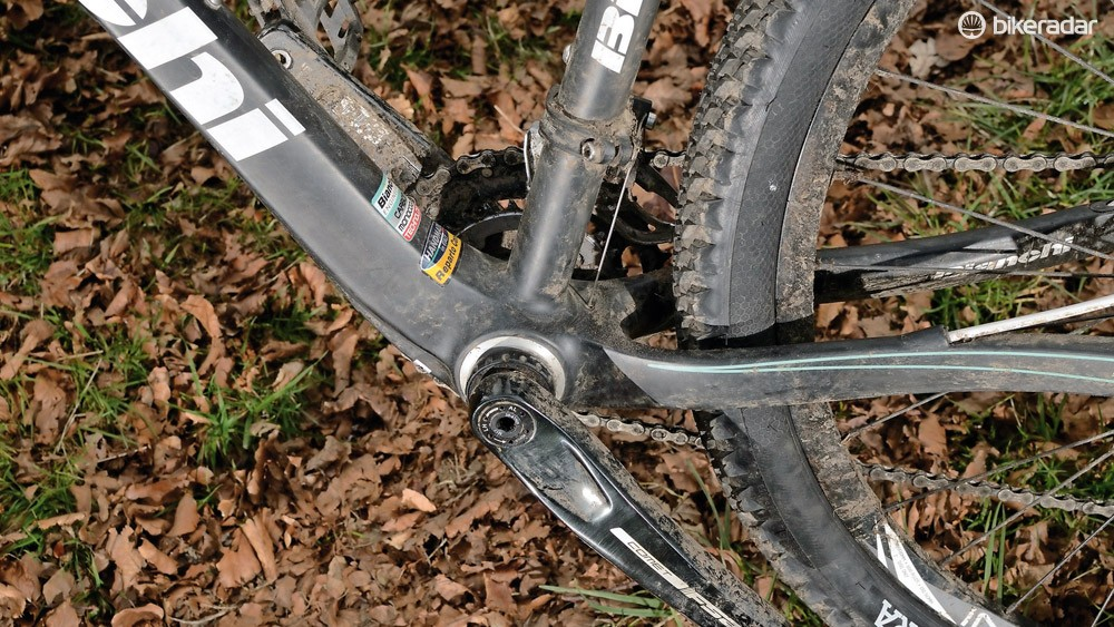 The bottom bracket sits low, which helps the 650b machine handle differently to a 26in bike