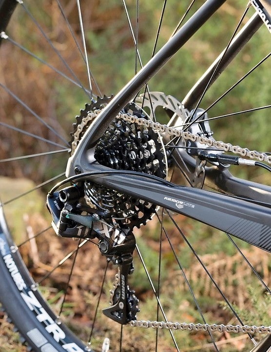 SRAM's X01 transmission is perfectly suited to this bike
