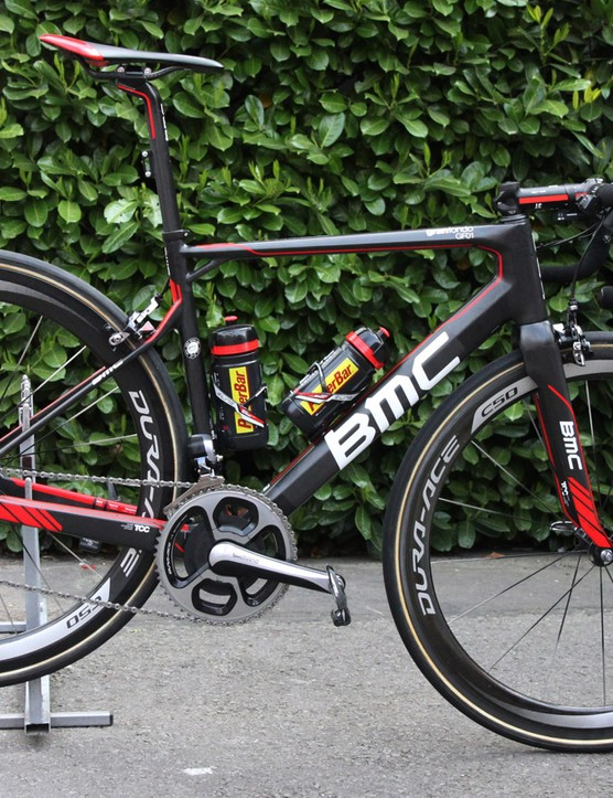 Greg Van Avermaet (BMC) switched from the BMC SLR01 he used at Ronde van Vlaanderen to the more cobbles-focused GF01 model for Paris-Roubaix