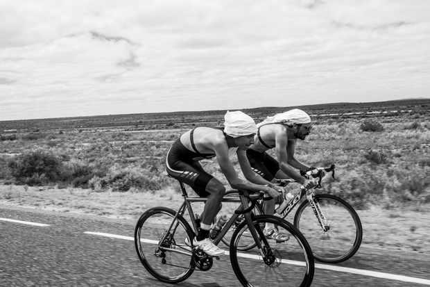 The Morton brothers on their way to Uluru