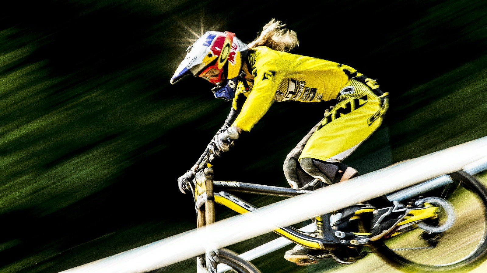 Rachel Atherton's focus on racing and training is sharp