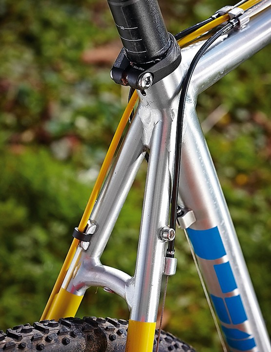 Plenty of room for mudguards – and rack eyes!