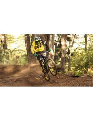 Jerome Clementz on his way to winning the first round of this year's Enduro World Series