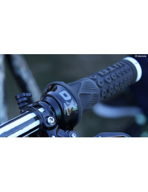This SRAM XO Gripshifter is used to opperate the rear suspension
