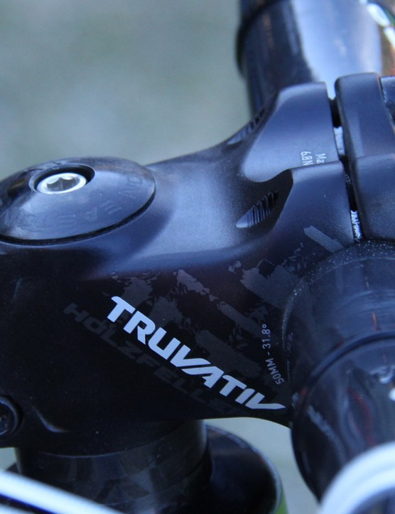 Clementz runs a 50mm Truvativ Holzfeller stem