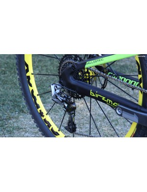 Clementz ran an XX1 drivetrain with a X01 cassette at the Enduro World Series season opener