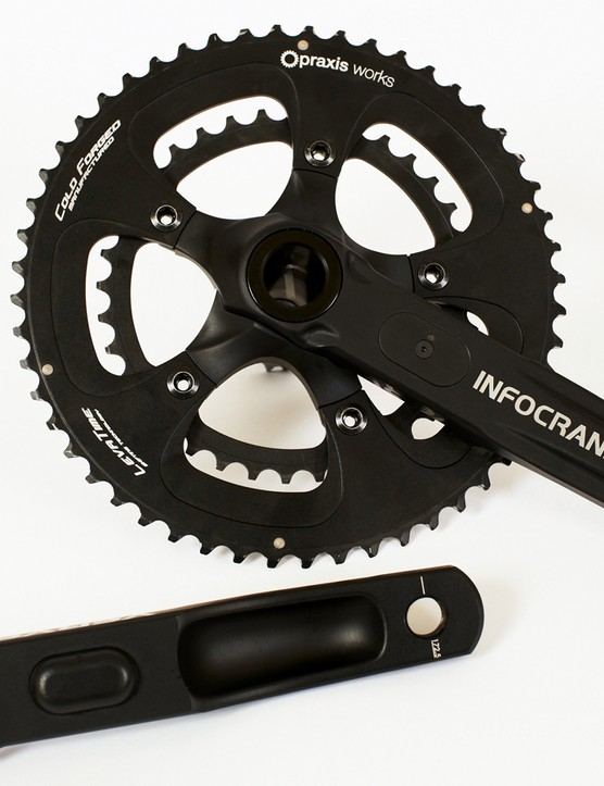 The Verve Cycling InfoCrank is a dual-sided power meter
