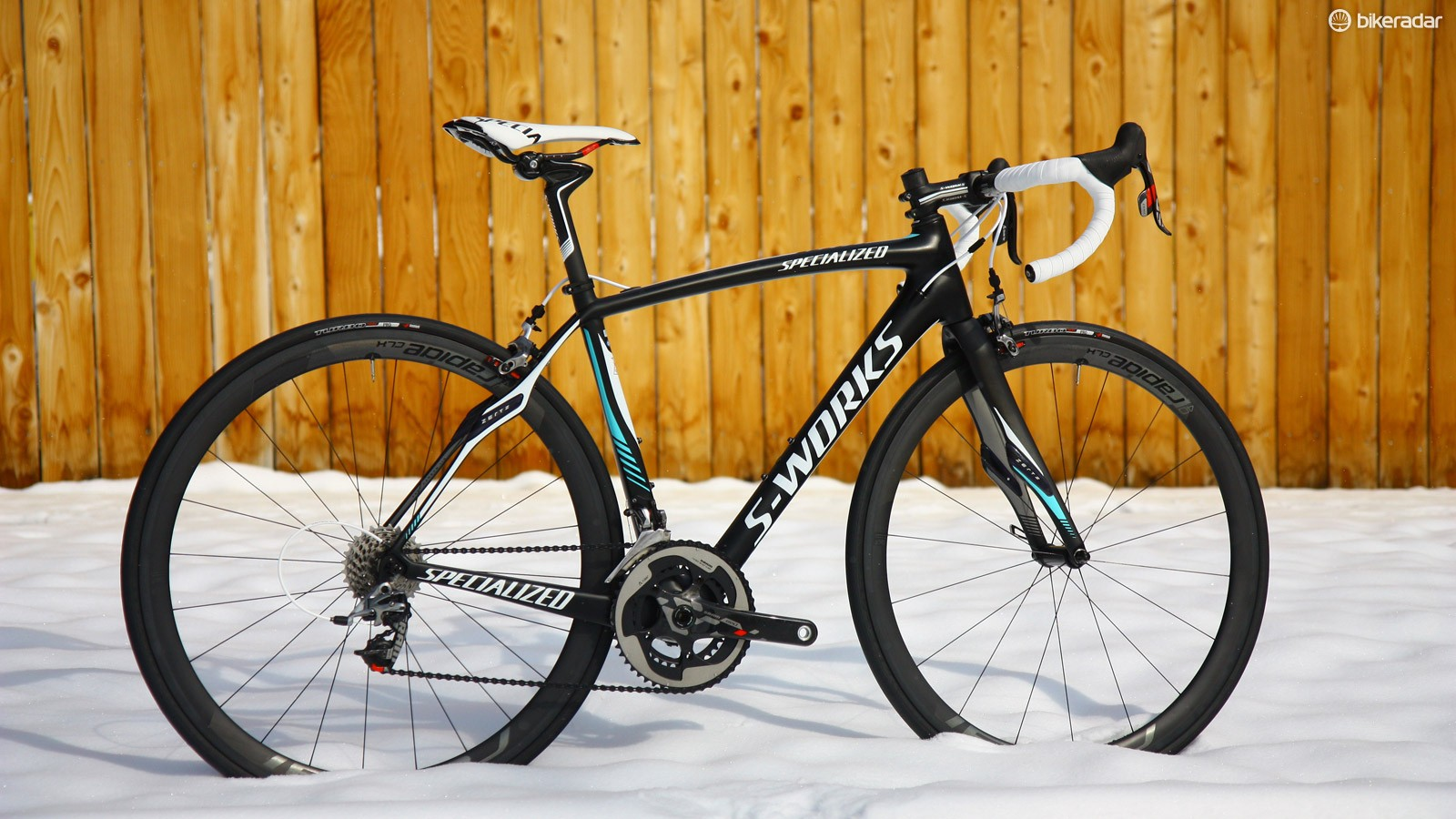 Riders competing in UCI-sanctioned events aren't allowed to use this fully stock Specialized S-Works Roubaix SL4 in competition because it's too light. However, anyone with sufficient funds can buy one and ride it off the showroom floor. Does that make sense?