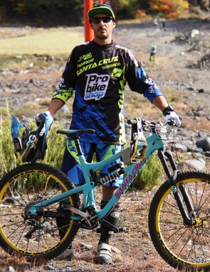 Santa Cruz racer Cedric Gracia rode his new 27.5 Nomad to a 10th-place finish