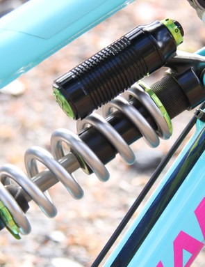 Gracia's Nomad was equipped with a DVO Jade coil shock