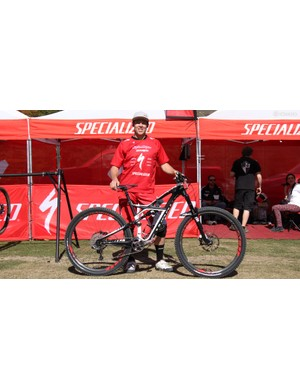 Curtis Keene (Specialized) was one of a handul of racers on 29in wheels