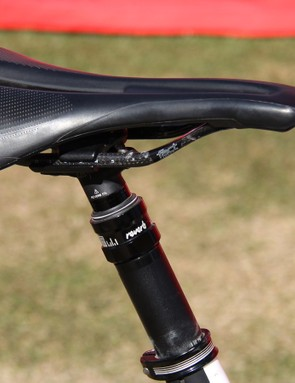 Keene was also testing a new saddle shape