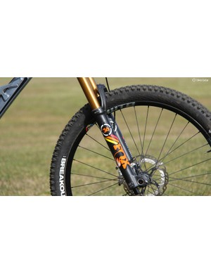 There were a handful of racers running the new Fox 36 RC2 fork. Most opted to run the 170mm travel option