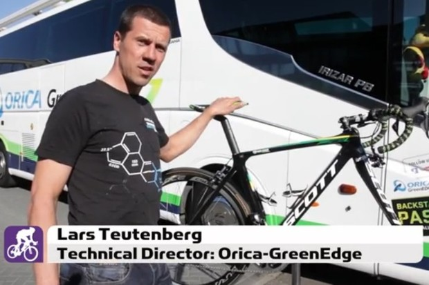 Lars Teutenberg takes us through Simon Gerrans' (Orica-GreenEdge) Scott Foil