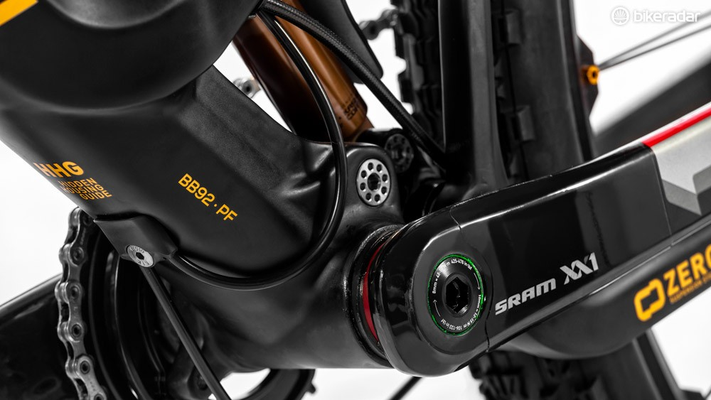 Mondraker spent a long time and developed many prototype frames to perfect the design of the bottom bracket area