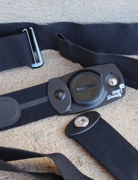 Heart-rate straps feature one of two kinds of fasteners: a button snap or a simple loop-and-hook