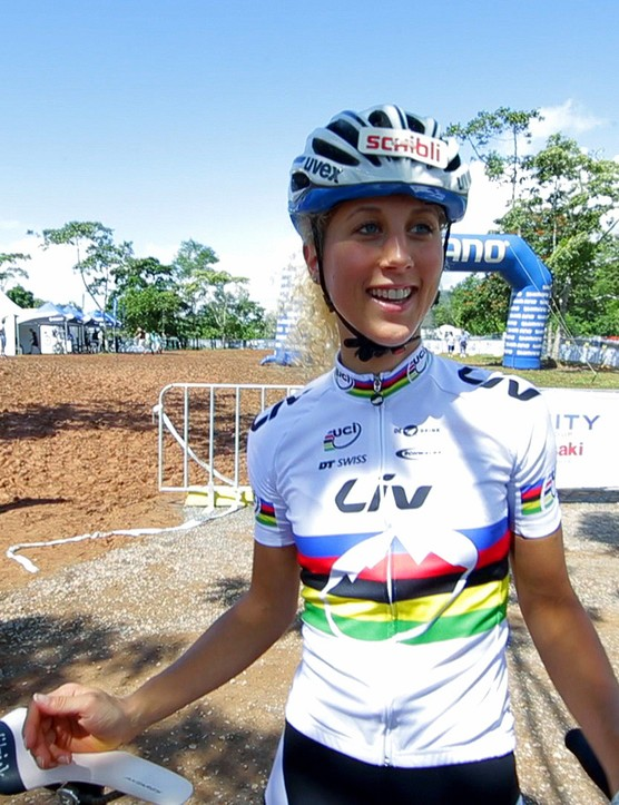 Jolanda Neff - judging by her win at the first world cup round, she has made the transition from U23 to Elite without hassle. Certainly a crowd favourite