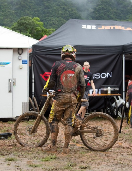 The mud in the pits over the weekend was a real mess