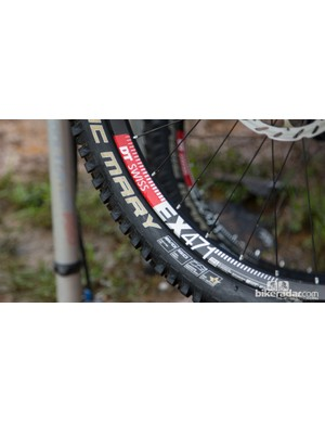 The Giant Factory team were running lightweight enduro rims from DT Swiss