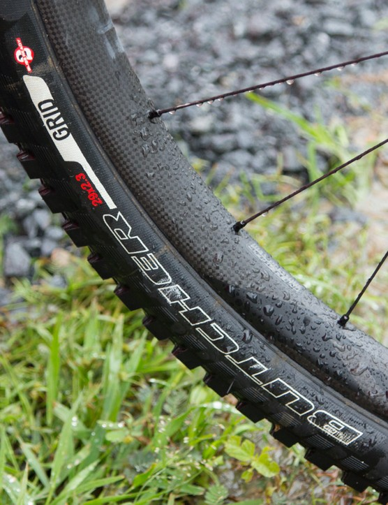 Ropelato's 29er had wide carbon rims