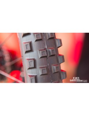 Specialized Factory were seen testing a variety of rubber over the weekend
