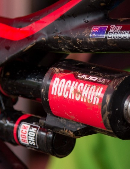 Troy Brosnan is one of the lighter riders and opted for the new Vivid Air shock