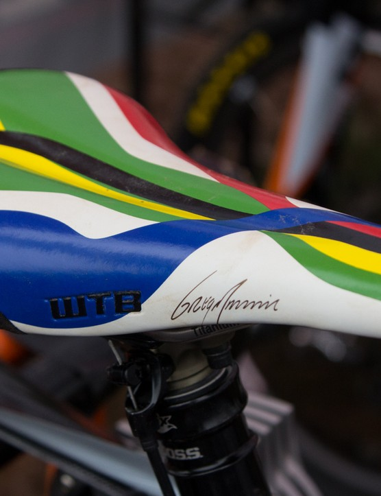 Current World Champion – Greg Minnaar – has this custom WTB Silverado saddle to show off his nation's flag