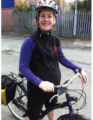 Cycle instructor Sarah Bingham