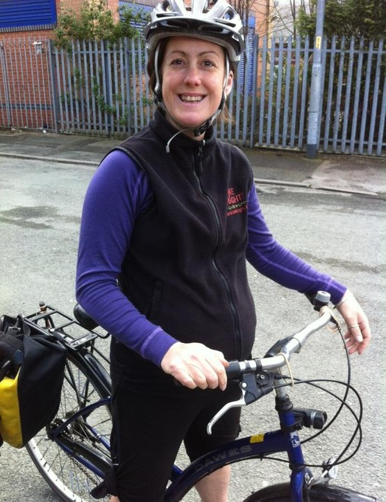 Cycle instructor Sarah Bingham