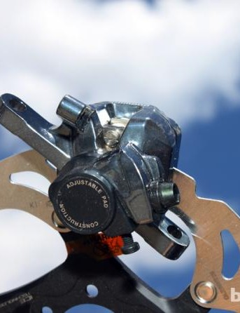 Shimano road disc brake calliper and rotor