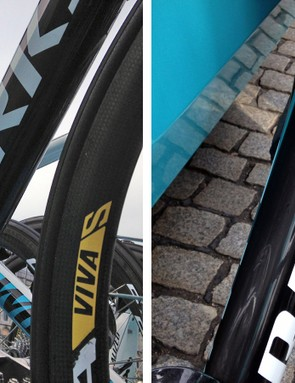 Just as on the current Tarmac, the down tube on the Specialized S-Works Tarmac SL5 is absolutely huge. This time around, the flare at the head tube appears even more pronounced