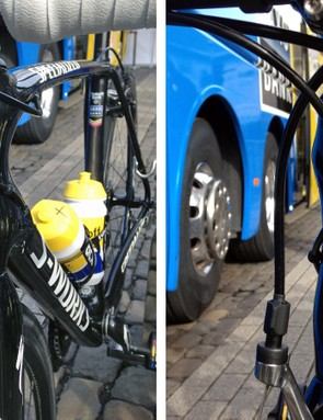The top tube and down tube once again 'wrap around' the tapered head tube for additional front-end stiffness. It's unclear exactly what diameter is used for the base of the steerer tube but Specialized is apparently sticking with traditional front and rear brake calipers