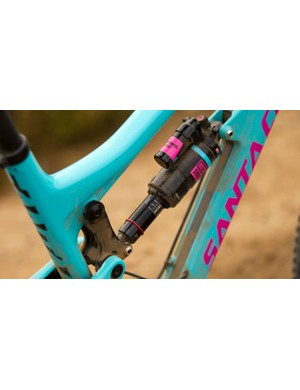 Santa Cruz offers the Nomad with the RockShox Monarch Plus (pictured) or with the more gravity-oriented Vivid Air