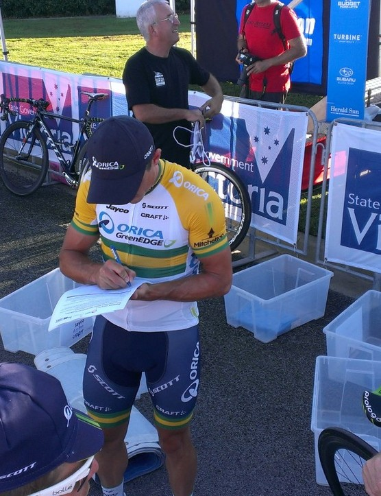Simon Gerrans signs on for safer cycling