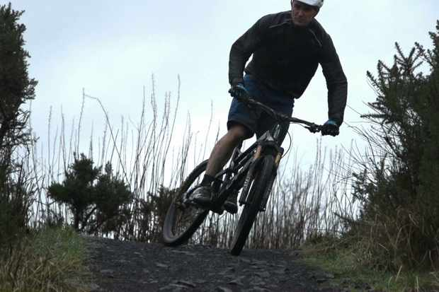 The rain wouldn't stop Glaswegian mountain bikers hitting the trail at Cathkin Braes