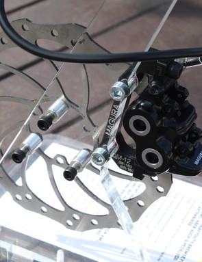 The caliper of the MT5 brake