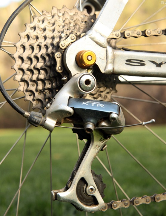 The 12-32T cassette required just a mid-cage rear derailleur