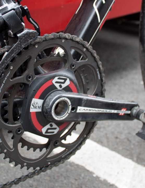 The SRM Super Record chainset has custom Ridley decals