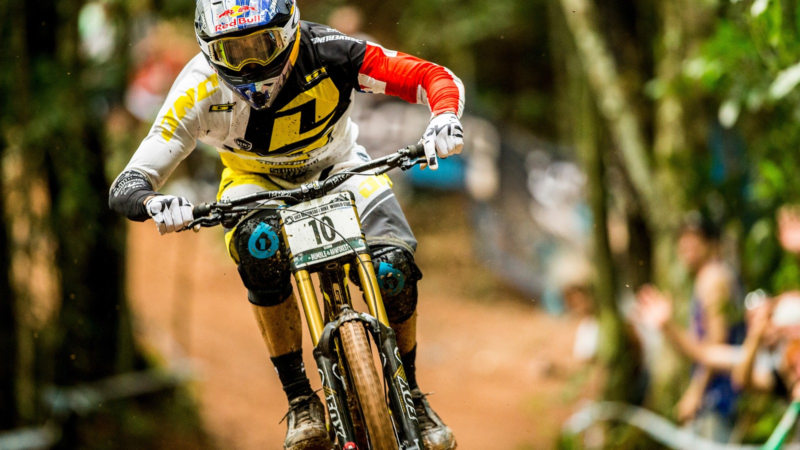 Gee Atherton showed the mud who's boss to take a deserved win in Cairns