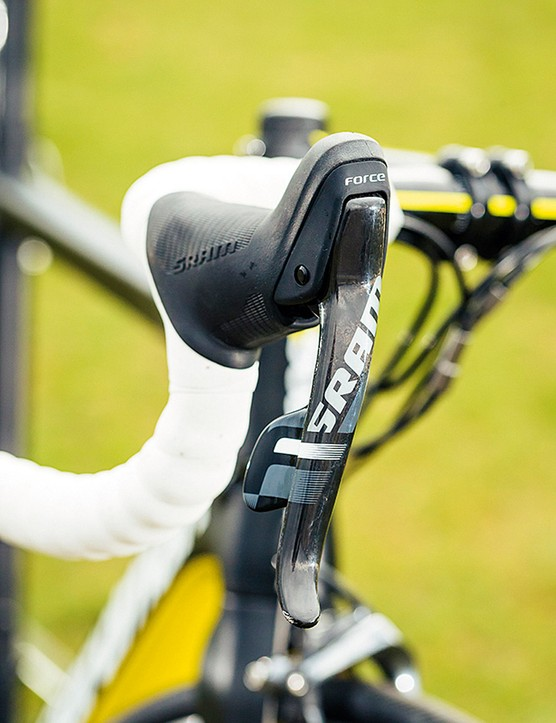 Better shaped hoods are one feature of SRAM Force 22