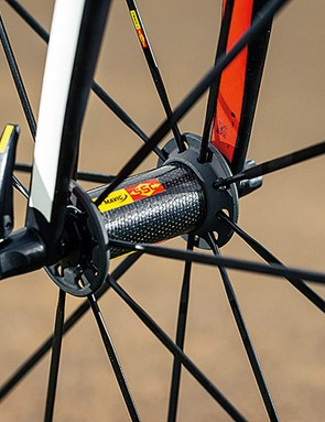 Mavic's Ksyrium wheels combine strength with a racing weight