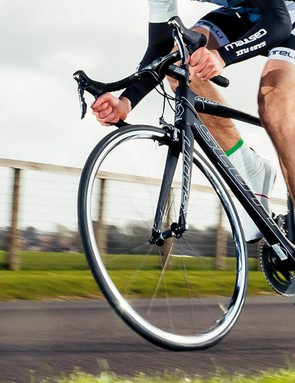 The Addict's ride is firm, but forgiving enough to keep you comfortable on long rides