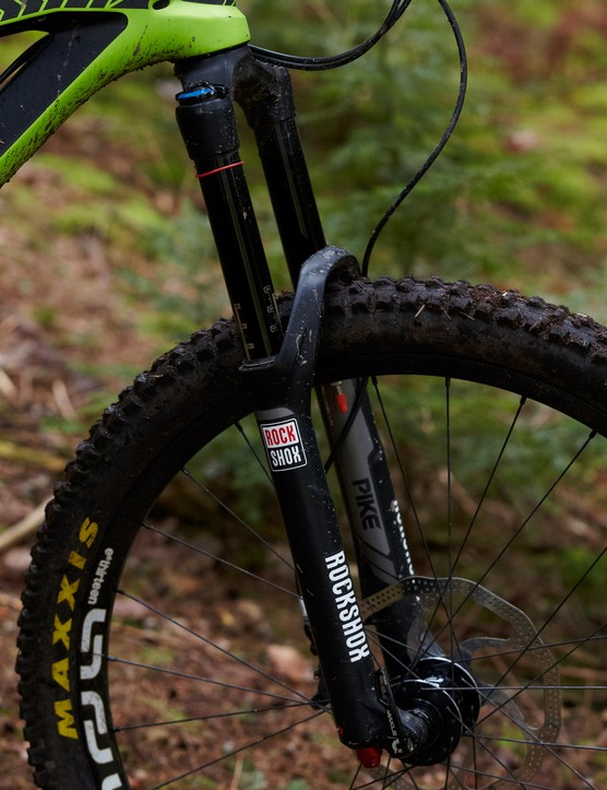 The RockShox Pike RCT3 is in a different class to the Evolution series Fox dampers on other bikes in this bracket
