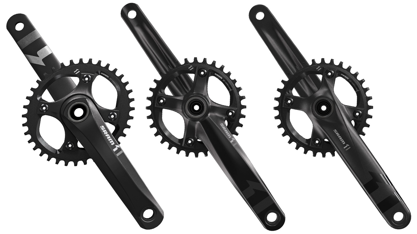 SRAM is releasing a trio of aluminum cranksets as part of the X1 rollout